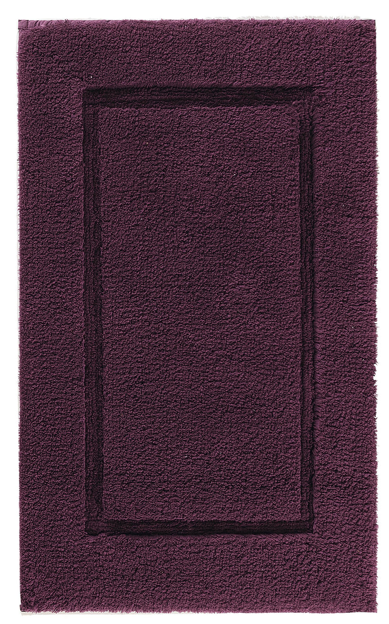 Graccioza Bathroom Mats 20x31 / Aubergine PRESTIGE BATH RUG IN