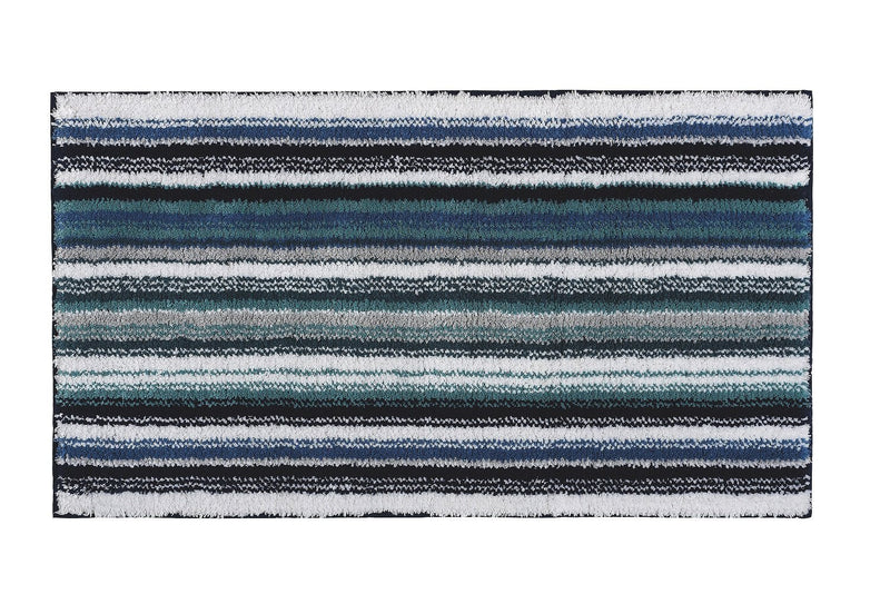 Graccioza Bathroom Mats 20x31 / Blue / Cotton Venice | Stripe Bath Mat