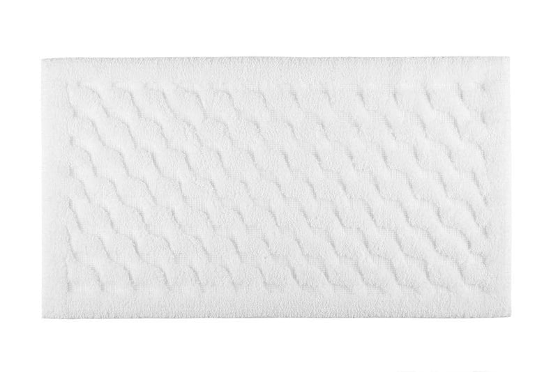 Graccioza Bathroom Mats 20x31 / White Wave | Bath Mats & Rugs