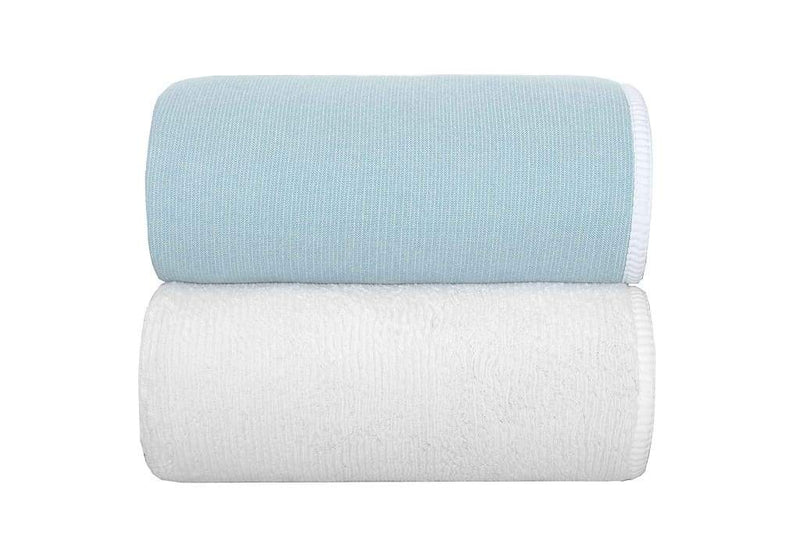 Graccioza Bathroom Towels Baltic / Washcloth Double Tone | Bath Towels