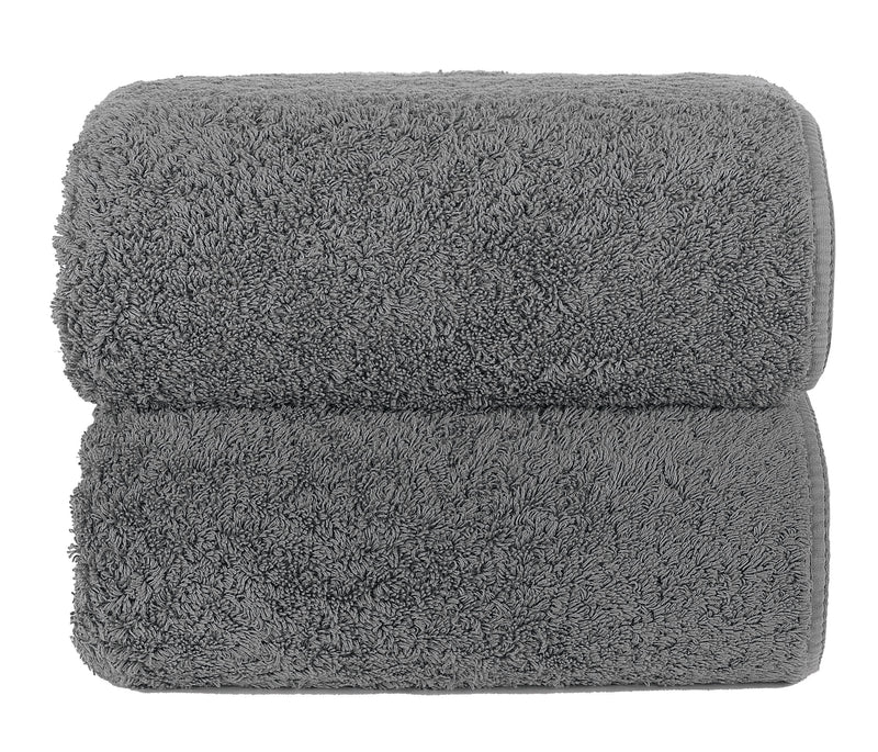 Graccioza Bathroom Towels Glove / Anthracite ANTHRACITE | HERITAGE LONG DOUBLE LOOP TOWEL