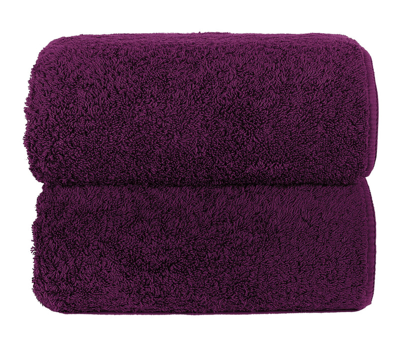 Graccioza Bathroom Towels Glove / Aubergine AUBERGINE | HERITAGE LONG DOUBLE LOOP TOWEL