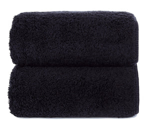 Graccioza Bathroom Towels Glove / Black BLACK | HERITAGE LONG DOUBLE LOOP TOWEL