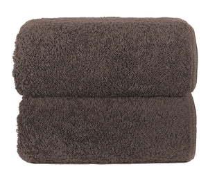 Graccioza Bathroom Towels Glove / Brown HERITAGE LONG DOUBLE LOOP TOWEL IN BROWN