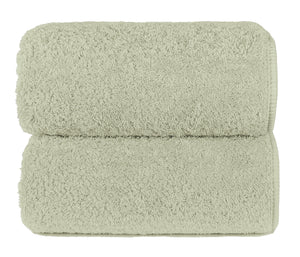 Graccioza Bathroom Towels Glove / Celery CELERY | HERITAGE LONG DOUBLE LOOP TOWEL