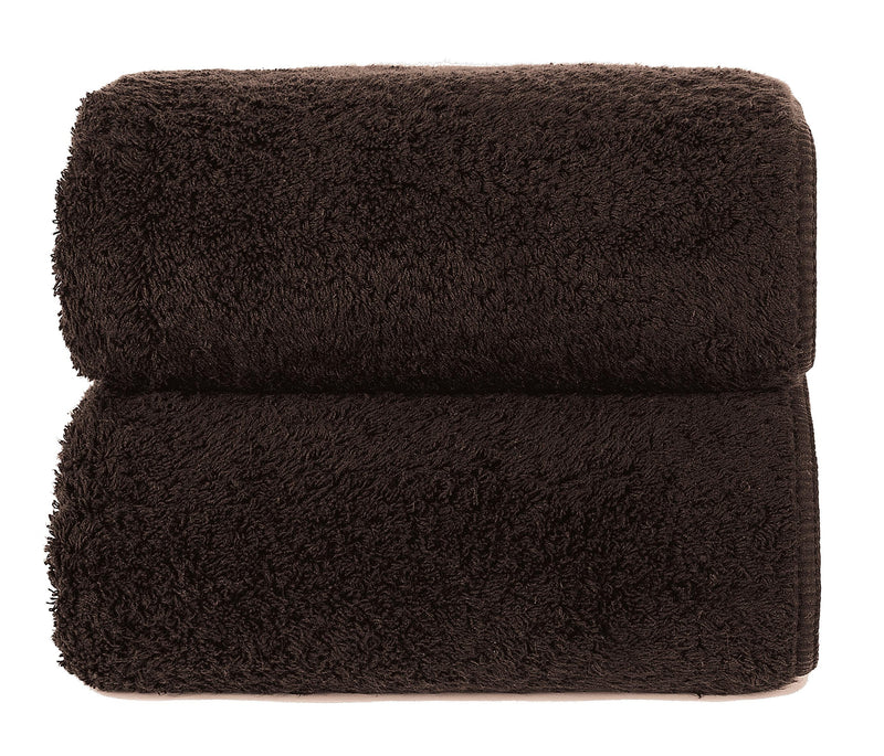 Graccioza Bathroom Towels Glove / Dark Chocolate DARK CHOCOLATE | HERITAGE LONG DOUBLE LOOP TOWEL