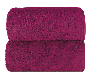 Graccioza Bathroom Towels Glove / Fuchsia HERITAGE LONG DOUBLE LOOP TOWEL IN FUCHSIA