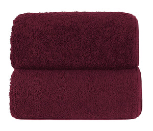 Graccioza Bathroom Towels Glove / Garnet GARNET | HERITAGE LONG DOUBLE LOOP TOWEL