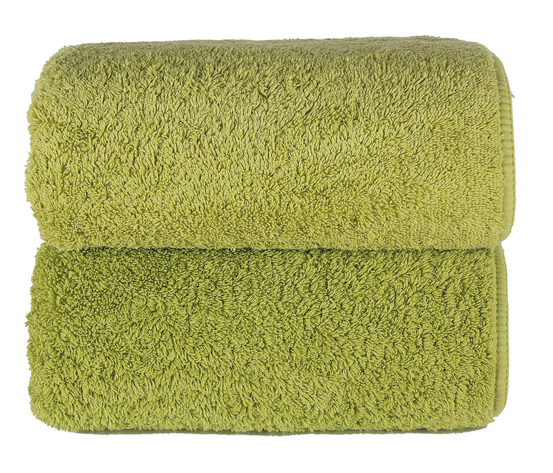 Graccioza Bathroom Towels Glove / Jungle HERITAGE LONG DOUBLE LOOP TOWEL IN GREEN