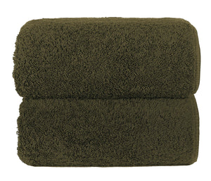Graccioza Bathroom Towels Glove / Olive OLIVE | HERITAGE LONG DOUBLE LOOP TOWEL