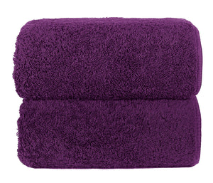 Graccioza Bathroom Towels Glove / Purple HERITAGE LONG DOUBLE LOOP TOWEL IN PURPLE
