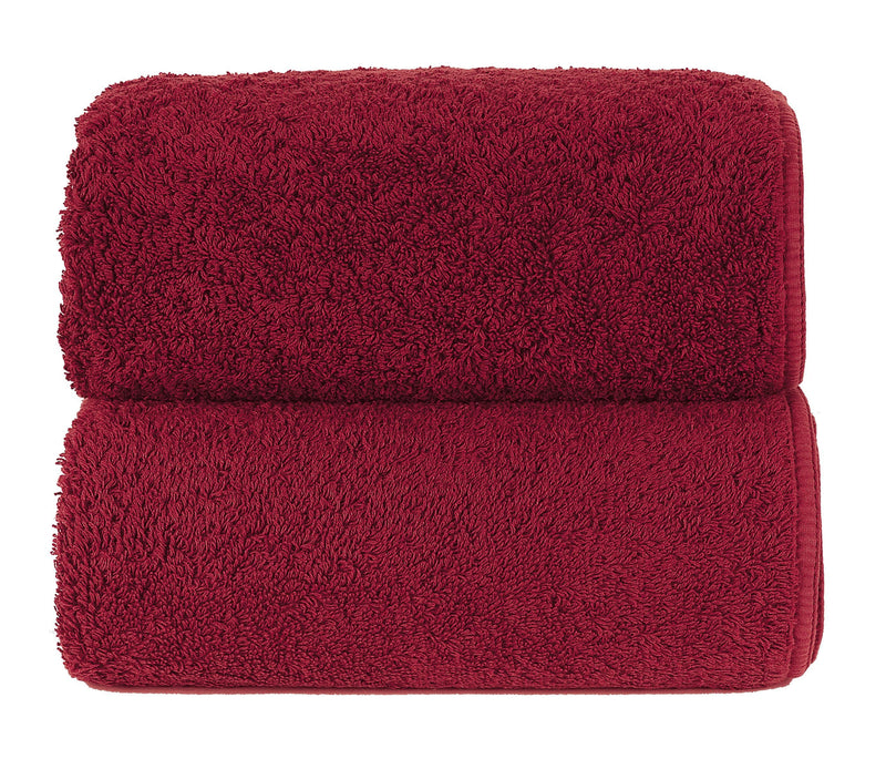 Graccioza Bathroom Towels Glove / Red HERITAGE LONG DOUBLE LOOP TOWEL IN RED