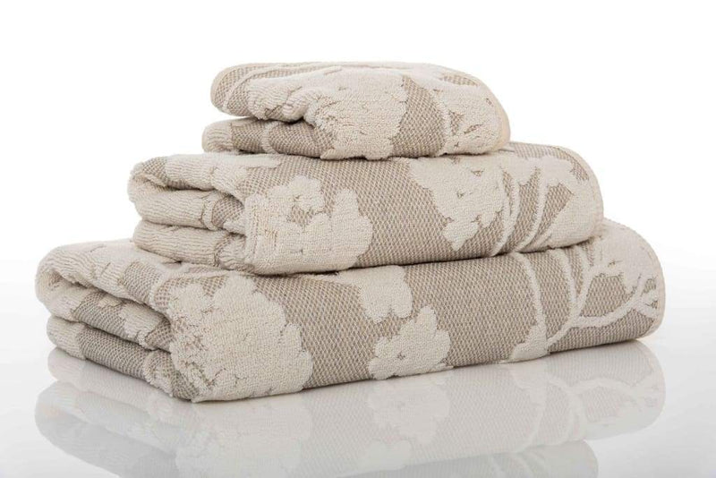 Graccioza Bathroom Towels Washcloth / Natural Eden | Bath Towels
