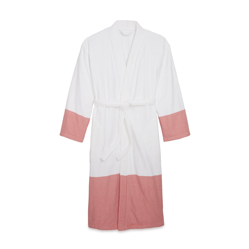 Kassatex Bathrobe S/M / Coral Greenwich Bathrobe