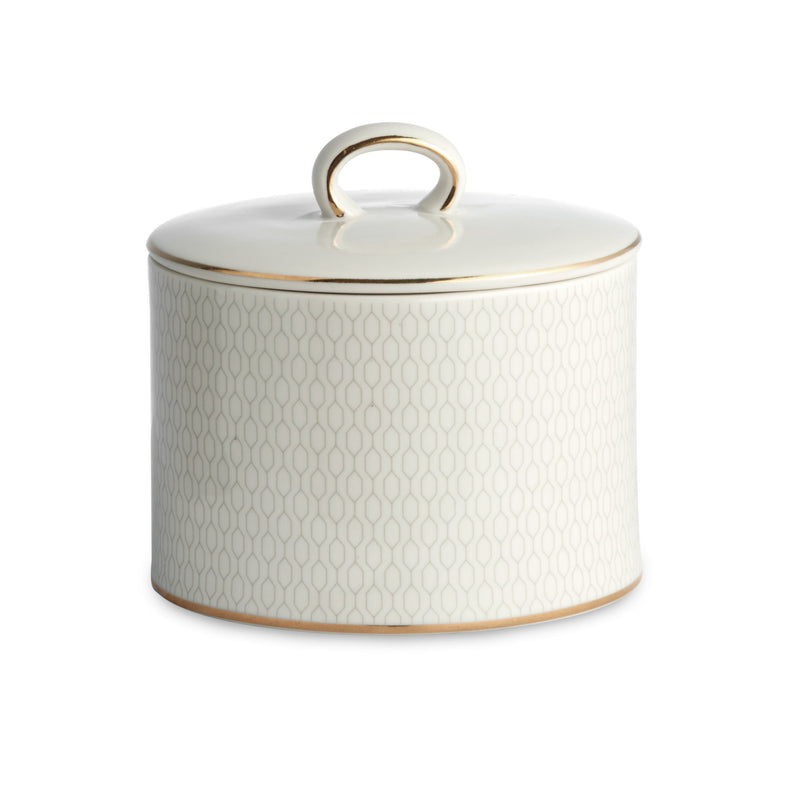 Kassatex Bathroom Accessories Cotton Jar / Porcelain FLORENCE COTTON JAR