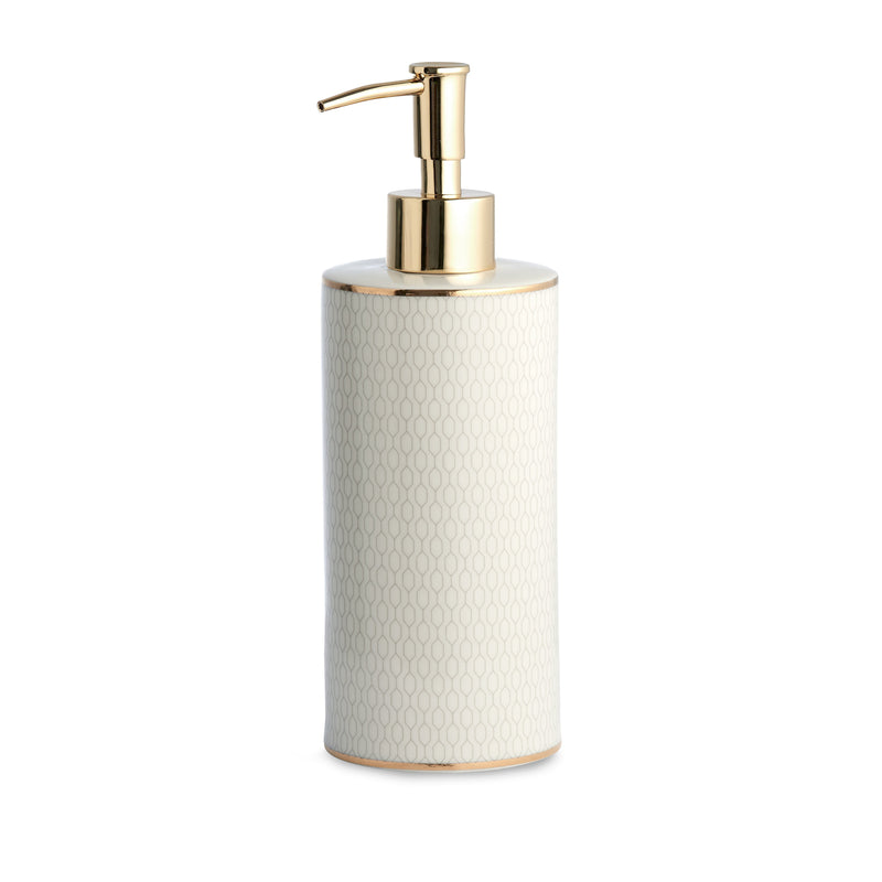 Kassatex Bathroom Accessories Lotion Dispenser / Porcelain FLORENCE LOTION DISPENSER