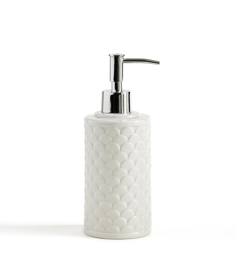 Kassatex Bathroom Accessories Lotion/Soap Dispenser / White Scala Bath Accessories