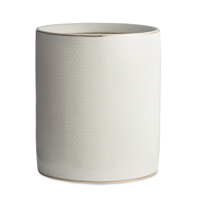 Kassatex Bathroom Accessories Wastebasket / Porcelain FLORENCE WASTE BASKET