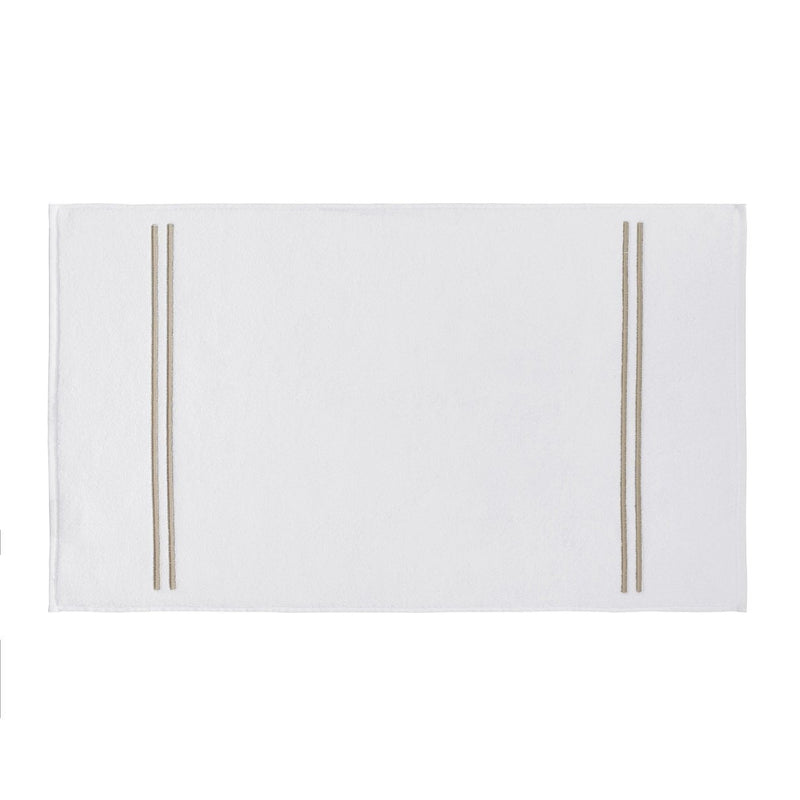 Kassatex Bathroom Mats Bisque CARRARA BATH MAT