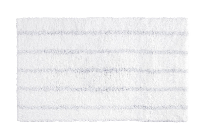 Kassatex Bathroom Mats SILVER STRIPE BATH RUG