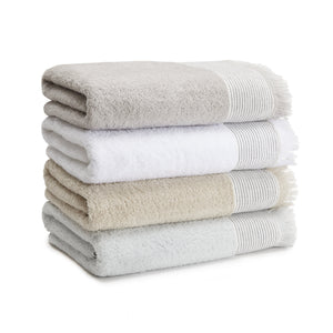 Kassatex Bathroom Towels AMAGANSETT LINEN-CUFFED TOWELS