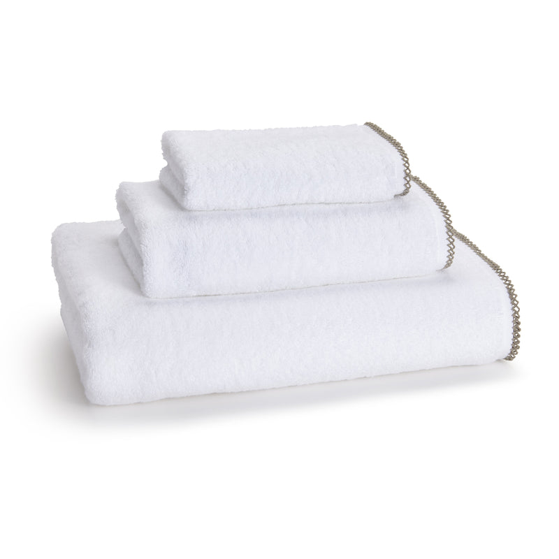 Kassatex Bathroom Towels Bath Towel / Cedar FRENCH PICOT TOWELS