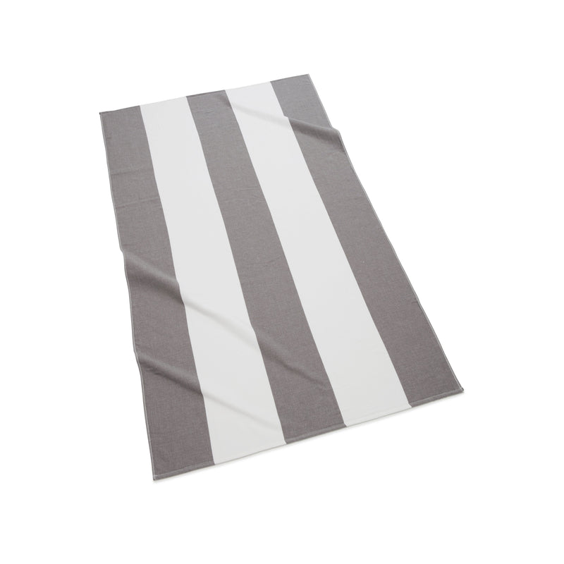 Kassatex Beach Towel Charcoal Block Stripe Beach Towel