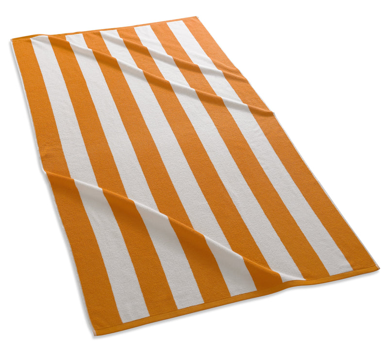 Kassatex Beach Towel Orange CABANA STRIPE BEACH TOWEL