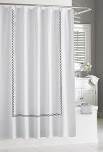 Kassatex Shower Curtain Black TIVOLI SHOWER CURTAIN