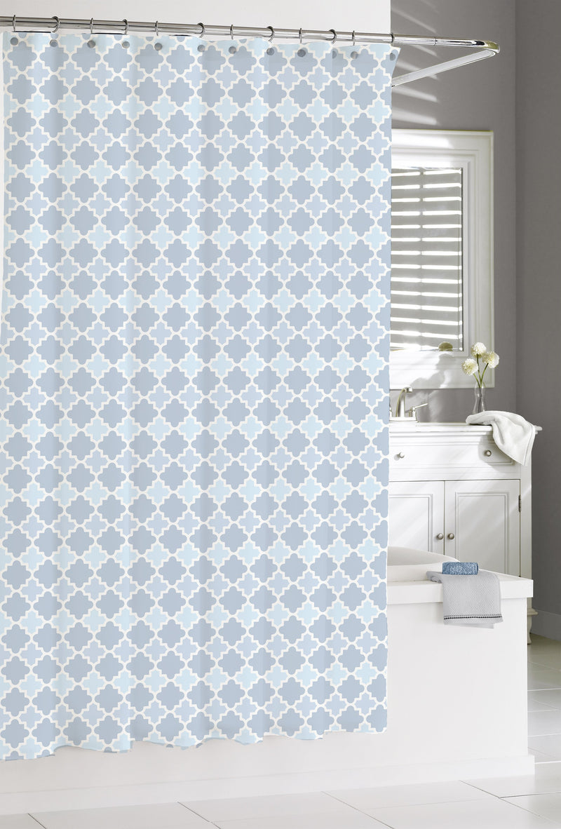 Kassatex Shower Curtain French BLue MARRAKESH SHOWER CURTAIN