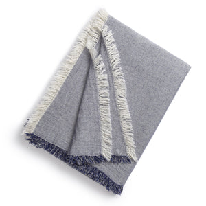 Kassatex Throws & Blankets Indigo Brentwood Throw Blanket
