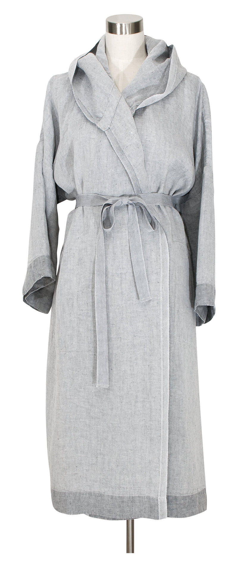 Lapuan Kankurit Bathrobe XS / Grey Kaste Hooded Bathrobe | Washed Linen