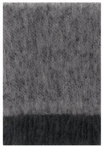 Lapuan Kankurit Throws & Blankets Black-Grey Saaga Uni | Mohair