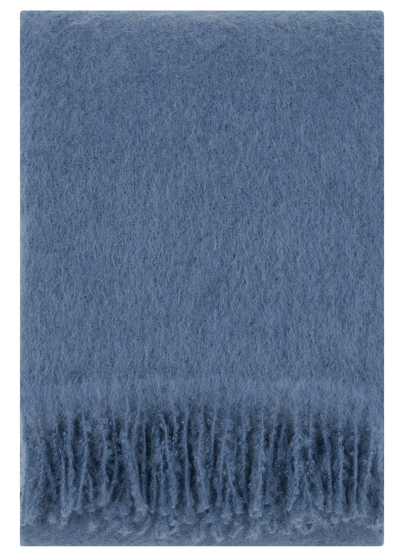 Lapuan Kankurit Throws & Blankets Blue Saaga Uni | Mohair