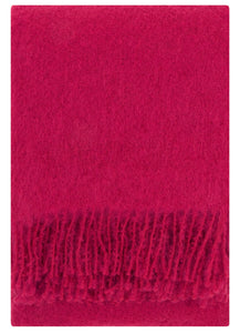 Lapuan Kankurit Throws & Blankets Red Saaga Uni | Mohair