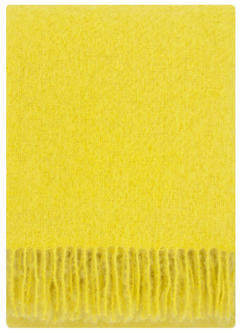 Lapuan Kankurit Throws & Blankets Yellow Saaga Uni | Mohair