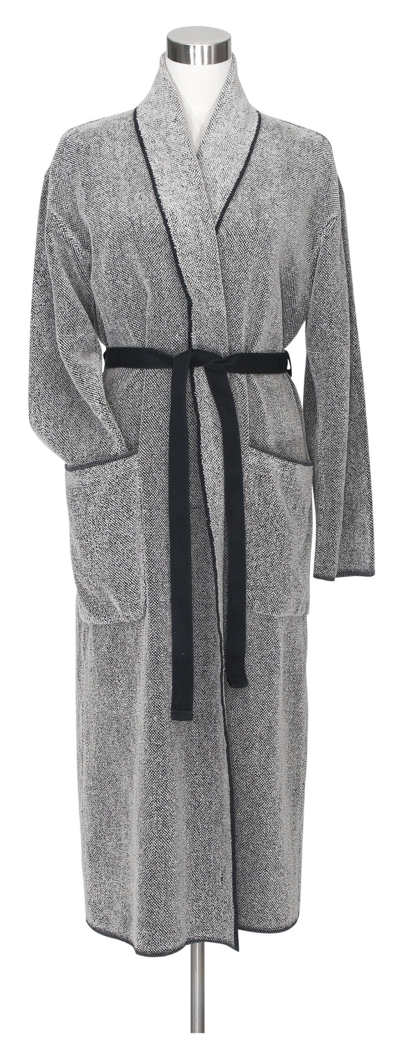 Leibona Bathrobe S Kivi Bathrobe | Black Washed Linen