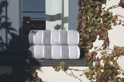 Leibona Guest Towel / Grey Neutral | Striped Bath Towels