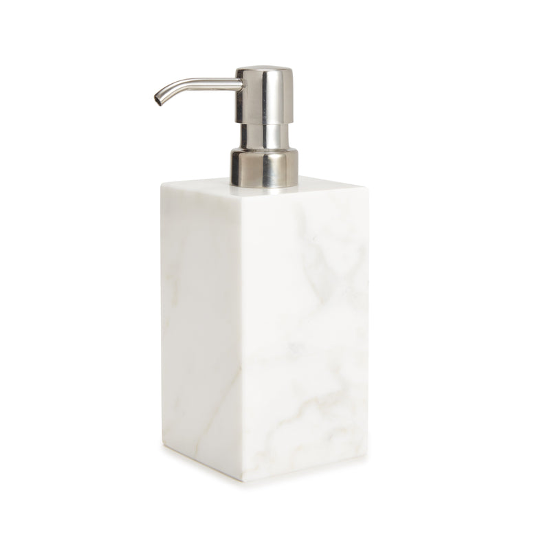 Leibona Lotion/Soap Dispenser / White Marmol Bath Accessories