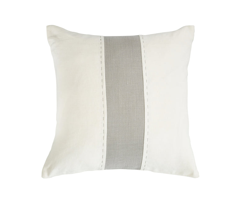 Libeco Accessories UPISLAND DOUBLE STITCH PILLOW IN WHITE FOG