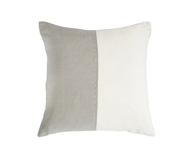Libeco Accessories UPISLAND SIDE STITCH PILLOW IN WHITE FOG