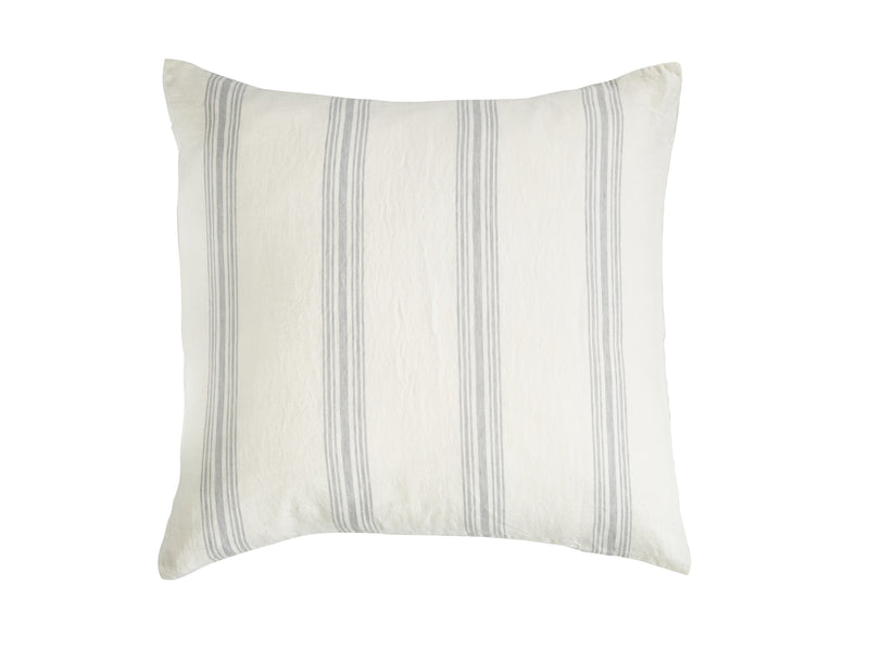Libeco bedding Shelter Island Pillow Sham / Euro / Oyster Stripe SHELTER ISLAND PILLOW SHAM