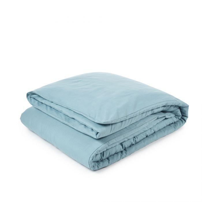 Libeco Bedding Twin / Aqua Green CALIFORNIA DUVET COVER & PILLOW SET