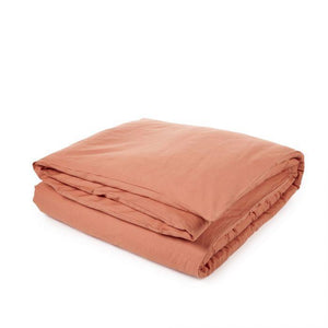 Libeco Bedding Twin / Bittersweet Orange CALIFORNIA DUVET COVER & PILLOW SET