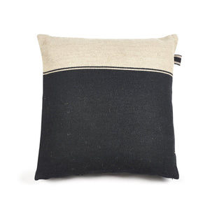 Libeco Decorative PIllows 25x25 / Black/Flax Marshall Pillow Cover