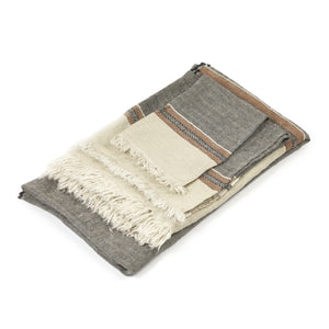 Libeco Throws & Blankets Belgian Beeswax Stripe Towel