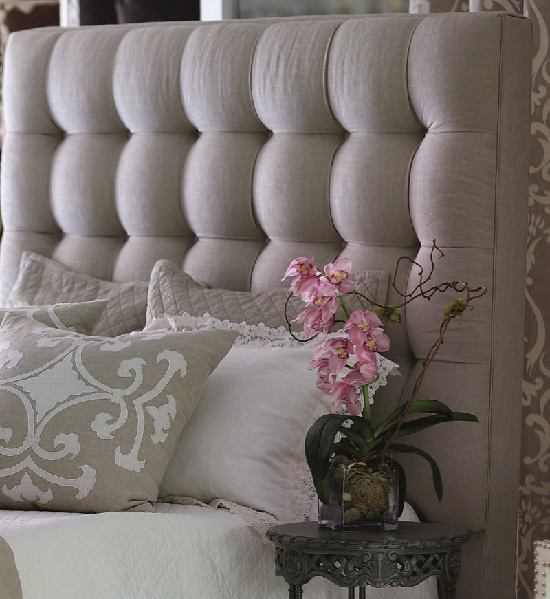 Lili Alessandra Headboard Queen LYNN NATURAL LINEN HEADBOARD