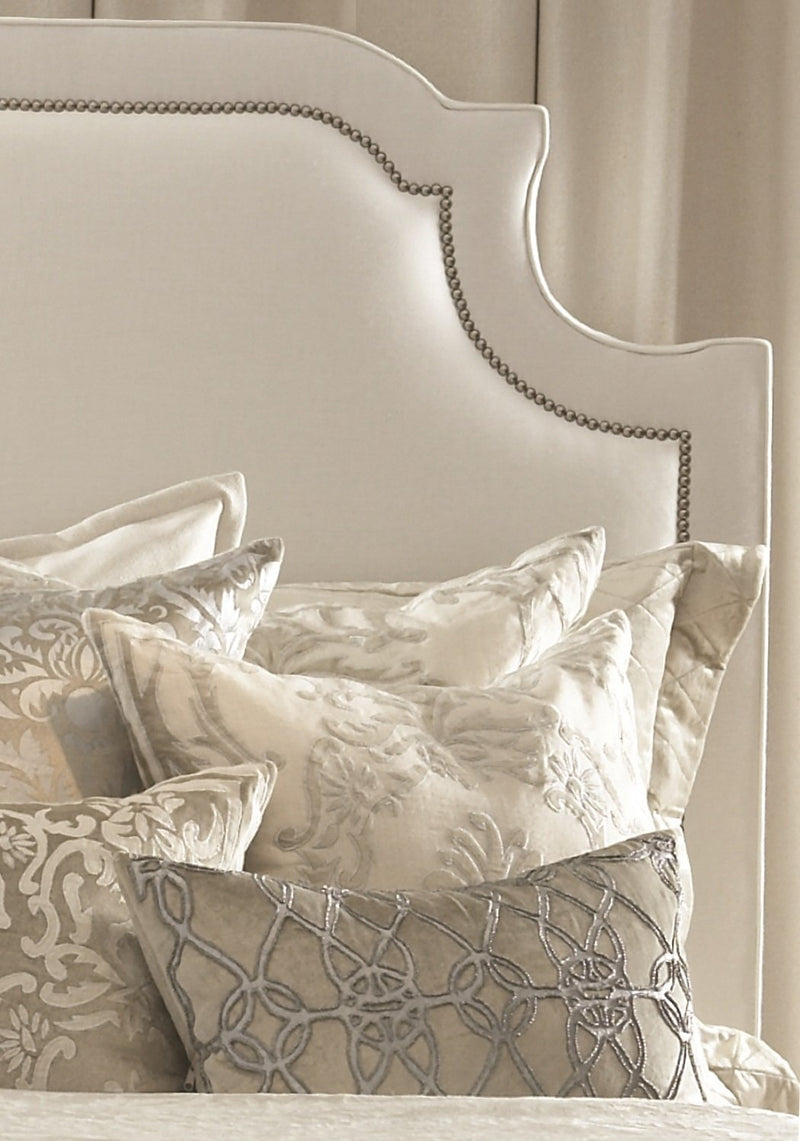 Lili Alessandra Headboard Queen MARILYN WHITE LINEN HEADBOARD