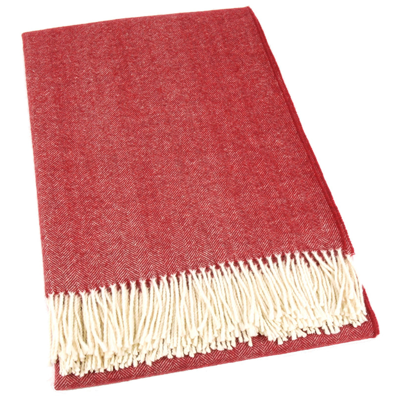 Mapacha Throws & Blankets Bordeaux | Merino Wool