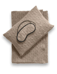 Sofia Cashmere Accessories EMILIA TRAVEL SET IN TAUPE